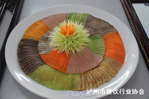 冷拼蝴蝶食品雕刻
